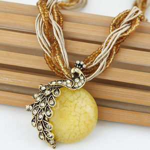 Jewelry - !!3/25!!  FULL MOON ANTIQUE NECKLACE (YELLOW)